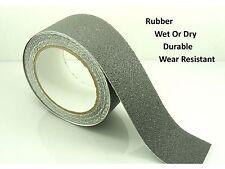"GREY 50mm (2"") Wide RUBBER Anti NON Slip Safety TAPE ~Shower/ Tiles/ Bathtub~"