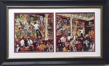"LeRoy Neiman ""F.X. McRory's Whiskey Bar"" CUSTOM FRAMED Seattle, St. Patricks Day"
