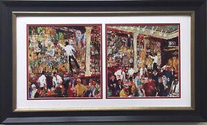 """LeRoy Neiman """"F.X. McRory's Whiskey Bar"""" CUSTOM FRAMED Seattle, St. Patricks Day"""
