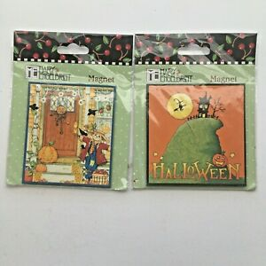 Mary Engelbreit Fall Halloween Magnet Set of 2 NEW In Package