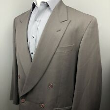 Giorgio Armani Gray Green Double Breasted Blazer Sport Coat Men's 44R Italy Made