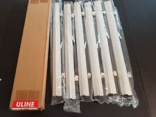 "NEW (BOX OF 6) ULINE Hanging Clamps for Blueprint Rack - 24"" H-4456"