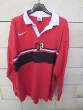 Maillot rugby STADE TOULOUSAIN 1998 Nike shirt coton ancien vintage L