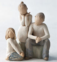 Willow Tree Set Siblings Brother & Two Sisters Option 2 Figurine Gift Set