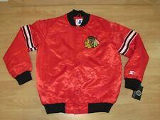 Chicago Blackhawks Draft Pick Satin Vintage Style Starter Jacket Men's Large
