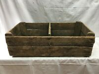 Primitive  Wood Cherry Lug double Picking Crate Fruit Crate Box Orchard Canning