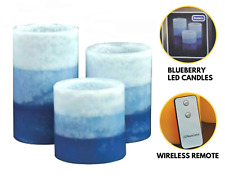3PC Scented Flameless LED Candle Set – Battery Fake Pillar Tea Light with Remote
