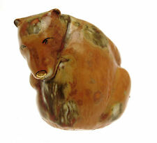 Hand decorated animal figure - brown bear