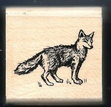 FOX Bushy Tail Wildlife Animal Nature Stampin' Up! Wood Mount Craft RUBBER STAMP