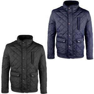 Raiken Cord Trim Diamond Quilted Jacket Mens Size