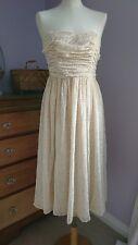 H&M Midi Strapless Dress Sz 8