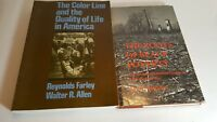 Lot 2 books: The Roots of Black Poverty & The Color Line and the Quality of Life