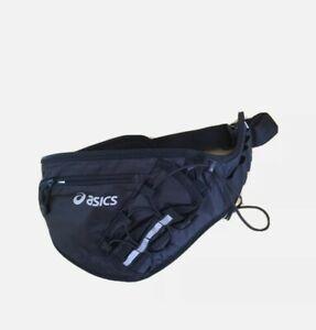 Runner's Waist Bag Asics with Pouch for Bottle, Black, Used