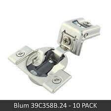 "10 Pack Blum COMPACT BLUMOTION Soft Close 39C 1-1/2"" Press-in Hinge - 39C358B.24"