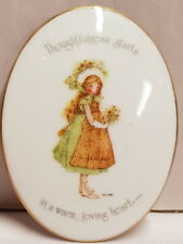 Vintage Holly Hobbie Thoughtfulness Starts In A Warm Heart Wall Plaque c1974
