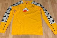 New Kappa 222 Banda 10 Araus Long Sleeve Shirt Size Small Logo Tape Yellow