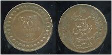 TUNISIE   10  centimes 1891   ( bis )
