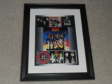 "Kiss 1970's Studio Albums Poster FRAMED, 14""x17"" Love Gun, Dynasty, 1973-1979"