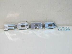 NEW 1962 1963 1964 FORD F100/750 TRUCK CHROME GRILLE PANEL LETTERS
