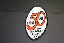VINTAGE - 50 Pins Over Average Orlando WBA Bowling PATCH 1984 -1985