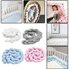 Cot Bumper Bed Rails Braid Pillow Nursery Decor Soft Braided Crib Guard DIY UK