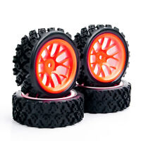 RC 4Pcs 1:10 Rally Tires Wheel DHO 12mm Hex for HSP HPI 1/10 Off Road Racing Car