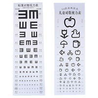 Wallmounted Waterproof Eye Chart Testing Cahrt Visual Testing Chart for Hospi pw