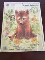 Vintage 1987 Milton Bradley Puzzle 25 Piece Forest Friends Fox Cub Giordano