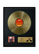 """Rgm1017 Bruce Springsteen Born in the Usa Gold Disc 24K Plated Lp 12"""""""