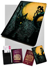 Passport Holder Jack Halloweentown Printed Faux Leather Cover Nightmare Style