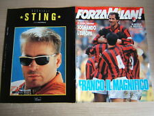 FORZA MILAN!=N°3 1992=POSTER S.ROSSI=BARESI=ALDO SERENA=SERIE A=COPPA ITALIA