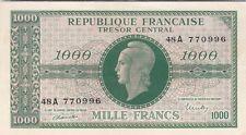 TRESOR : 1000 FRANCS MARIANNE 1945 CHIFFRES GRAS SERIE A SUP