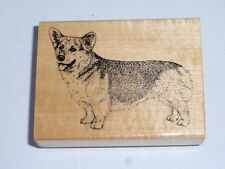 Welsh Corgi Pembroke Dog Rubber Stamp on Wood Block by Stamp Gallery