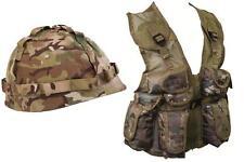 Kids Camouflage Assault Vest and Helmet Set  MTP Match Childrens Army (Set 21)