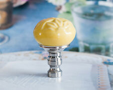 1 of Gorgeous Yellow Hand Painted Porcelain Lamp Shade Finial