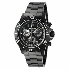 Glycine GL1001 Men's Combat Sub Quartz 42mm Chronograph All Black Watch
