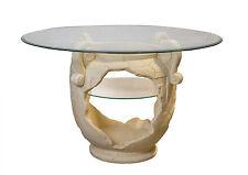 Runder Esstisch Tafeltisch Glastisch Luxustisch Amphorentisch Vasentisch Creme