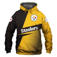 Pittsburgh Steelers Football Team Hoodie Hooded Sweatshirt Jacket gift for fan