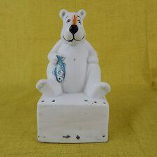 Vintage House of Lloyd Polar Bear Baking Soda Holder for Fridge 1989 Paintable