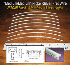 6 feet of Medium/Medium Premium Jescar Nickel-Silver Guitar Fret Wire/Frets