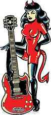 Devil Girl with Guitar Sticker Decal Vince Ray VR59