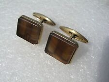Russian Vintage Silver 875 Gold plated Agate Cufflinks 9,8 gr.
