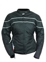 Women's Gift Motorcycle Black Waterproof Protected Armor Cell Pockets Jacket New