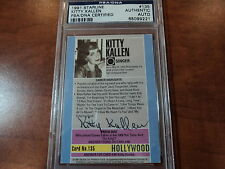 KITTY KALLEN Little Things Mean a Lot - SIGNED 1991 STARLINE  # 135 - PSA DNA