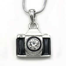 Retro Vintage Style Miniature Camera Lover Photographer Pendant Neckace Charm p1
