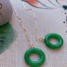 Green Chalcedony Earrings 18KGB Round Holiday gifts Beautiful jewelry Flawless