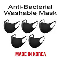 (5Pcs) Unisex 3D Face Mask Reusable UV Protection Comfy Washable Made in Korea