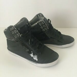 Girls Pastry Black Hi Top Hip Hop Dance Shoes Size 7.5
