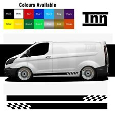 Side Stripe Stickers Decals Vinyl Graphics For Ford Transit Custom Van SWB