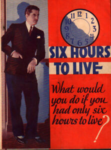 Six Hours to Live Original Movie Herald from the 1932 Movie
